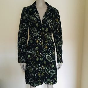 Johnny Was embroidered jacket trench duster black
